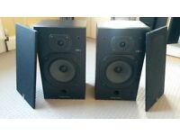 Wharfedale bookshelf stereo speakers x 4