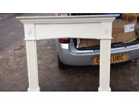 cream fire surround good condition only £15.00