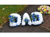 Artificial flower saying DAD