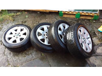 "BMW 16"" alloys with good M+S tyres"
