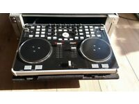 Dj Controller with Road Ready Flight Case
