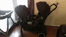 Graco double pram for sale