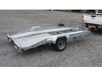 SMALL CAR TRANSPORTER TRAILER SUITABLE FOR SMART RALLY STOCK AUTOGRASS BEACH VINTAGE CAMPERS CLASSIC