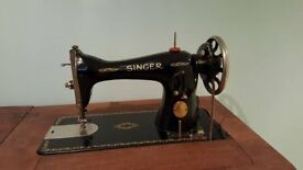 Singer sewing machine with work table