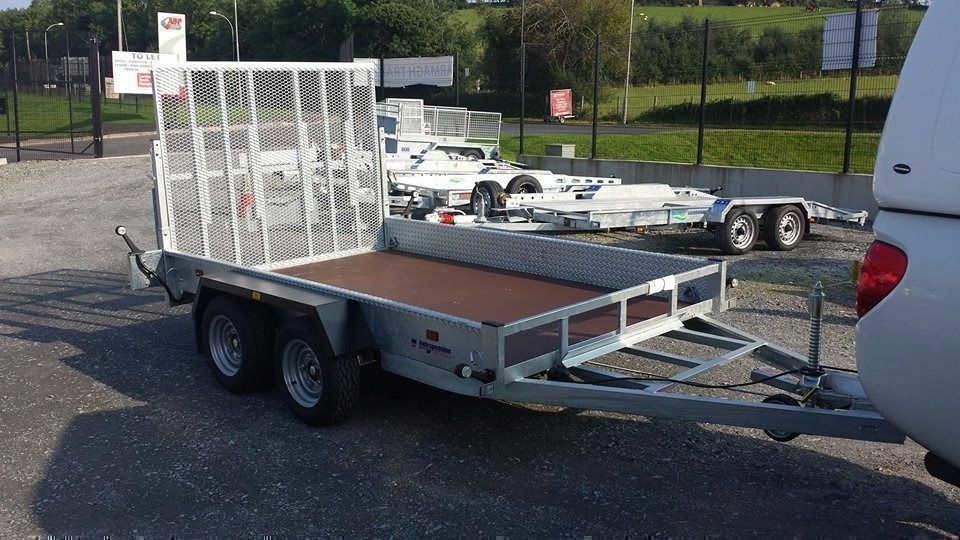 Digger plant roller moving trailer