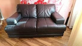 FOR SALE Veneza Glow 2 seater in MOCHA leather sofa. Perfect condition.