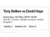 2x Bellew and Haye tickets