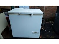 White proline chest freezer.