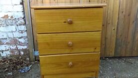 pine 3 drawer chest of drawers - free local delivery