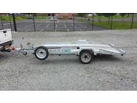 Singlewheel transporter trailer ramps led brakes suit rally stock sprint vintage small smart kit car