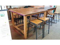 Large table with 4 stools (delivery available)