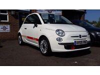 Fiat 500 pur o2, 39000 miles, 2009, bluetooth, stop start. Reverse sensors.fsh