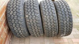 Sprinter/Crafter Van 4 Winter tyres with wheels 235/65/R16C