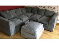 BRAND NEW LUXURY LIVERPOOL JUMBO CORD / 3 + 2 SEATER SOFA AVAILABLE IN DIFFERENT COLORS ORDER NOW