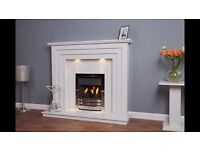 Rocco Marble Fireplace 54 inch with Downlights (Free Local Delivery)