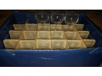 Sale priced 30 Small Wine Glasses BRAND new