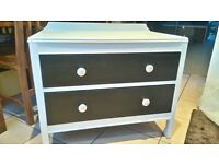 Beautiful shabby chic oak drawers