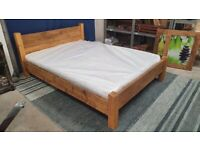 Rustic Low Foot Plank Bed -Kingsize
