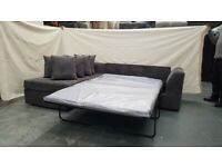 DYLAN CORD SOFA BED CORNER IN LEFT AND RIGHT HAND SIDE AVAILABLE IN GREY COLOUR ORDER NOW