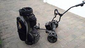 Powakaddy Electric golf trolley with bag