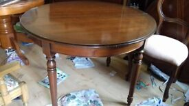 Round dining table,Victorian style,mahogany,extendable,carved leg,175-270m