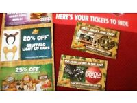 Chessington world of adventures X2 Tickets for £25 for 18 April 218