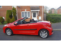 2007 PEUGEOT 207cc SPORT FINISHED IN RED, ELECTRIC ROOF FULLY OPERATIONAL!, 12 MONTHS MOT, ONLY 76K