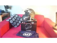 Motorbike Helmet MT Thunder Brand new (size M) with tags and box Matt Black and White