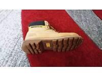 Mens cat boots steel toe cap shoes 6 uk caterpillar leather