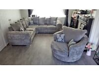 Ask for details BRAND NEW VERONA Chesterfield Corner Sofa In Grey With Cushions ORDERS NOW👌🏻