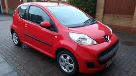 Peugeot 107 VERVE, very clean LOW MILES 59 plate, FSH, only £20/yr road tax