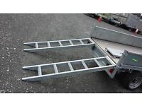 GALVANISED STEEL HEAVY DUTY 6FT & 8FT LOADING RAMPS SUITABLE FOR DIGGERS & PLANT MACHINERY