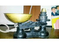 Antique Salter Scales & Weights Pictured