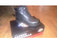 Mens leather safety work boots- BRAND NEW IN BOX