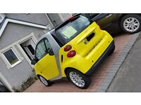 2008 Smart Fortwo 1.0l Passion in Yellow. 37,100 Miles