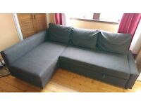 Brown Ikea corner sofa / pull-out bed - £100