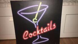 Cocktail Bar wall art canvas