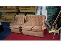 2 piece pink fabric suite