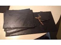Rough cut slate tableware / coasters / hangings / plates - beautiful :)