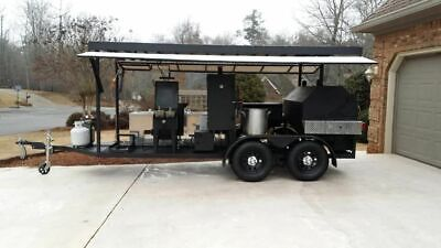 2014 - 5 X 21 Commercial Bbq Smoker And Grill Trailer For Sale In Georgia