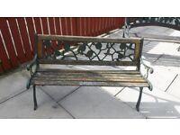 Cast iron garden bench / garden furniture / outdoor furniture / patio / bench ends / decking area
