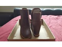 UGGS - brand new, never worn. Distressed look ankle boots.