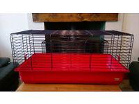 Guinea Pig/Rabbit Cage with Hay Rack, Indoor 'FEBERPLAST 100' x2