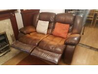 2 and 3 seater recliner sofas - FREE TO COLLECT