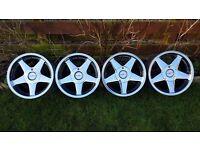 """16's Genuine alloys""""AZEV A""""4x100 width J7,5/J9 BMW,VW,VAUXHALL,RENAULT CLIO,MINI etc pcd 4x100"""