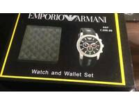 Emporio Armani watch and wallet gift set