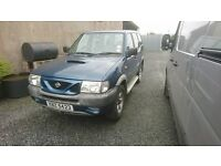2000 NISSAN TERRANO 7 SEATER OPEN TO OFFERS MOTD TIL MAY 2017