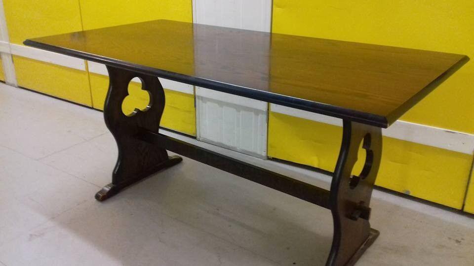 1 dining table,oak, carved leg, good surface, length