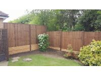 Fencing supplied and fitted from £80.00 per bay