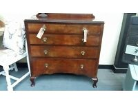 Antique Solid Wooden Chest Of Drawers